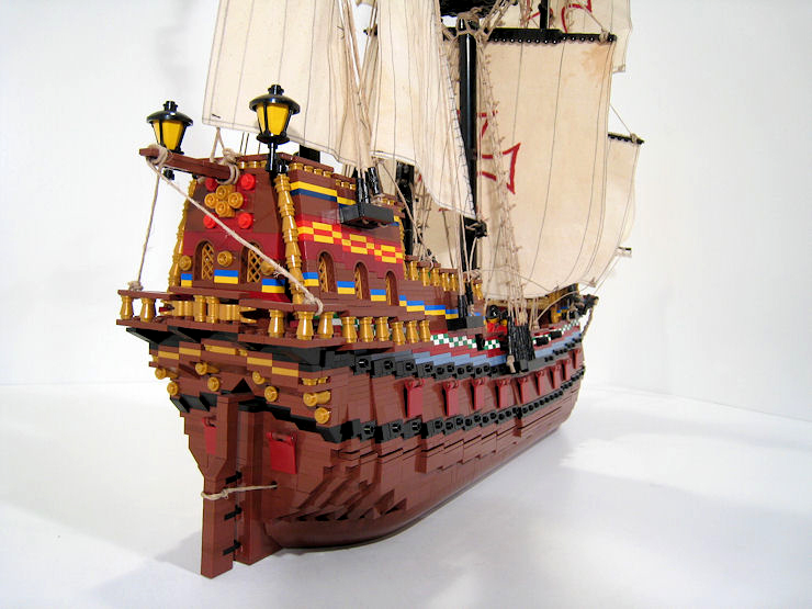lego pirate ship moc instructions