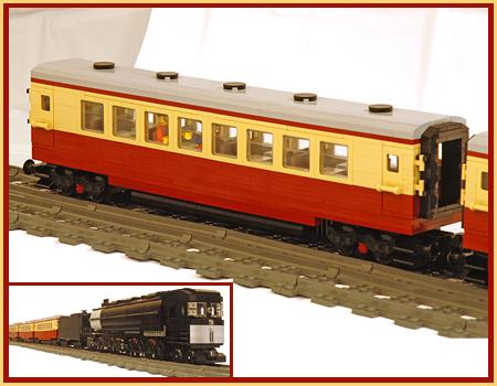 Dark Red & Tan Train Coach