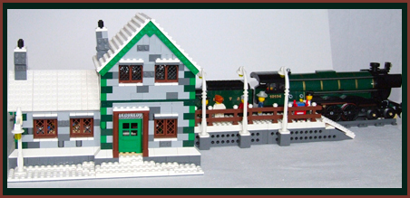 Winter Train Station