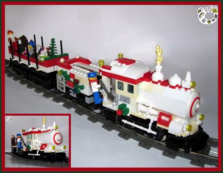 Santas White Steam Train