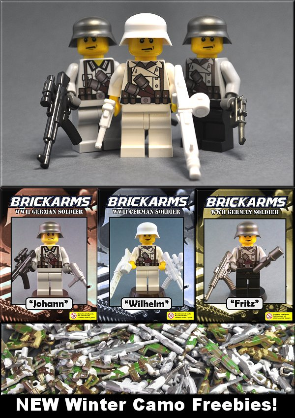 BrickArms 2010: 3 New German WWII Custom Figures!