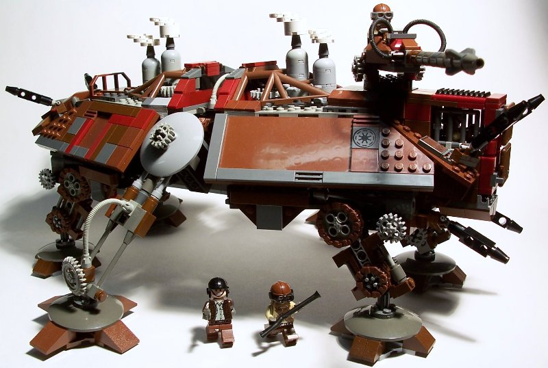 Steampunk AT-TE by Moodswim