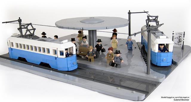 Stureplan 1940s Trams