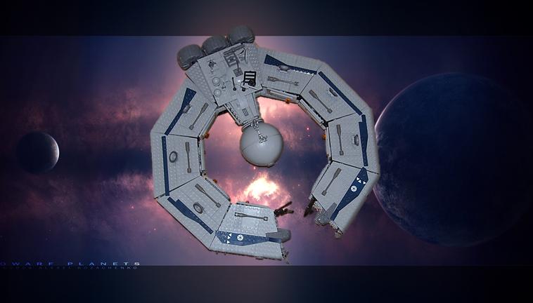 lucrehulk-class battleship, by trooper 278