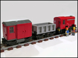 Small Red Shunter Train