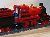 Red and Black 4-4-0 Steam Engine