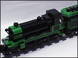 Green & Black 4-6-0 Steam Train