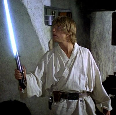 Luke Skywalker blue lightsaber Episode IV A New Hope.jpg