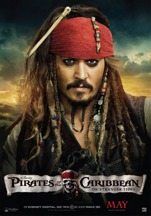 Pirates of the Caribbean - On Stranger Tides Official Movie Poster - Jack Sparrow #2.jpg