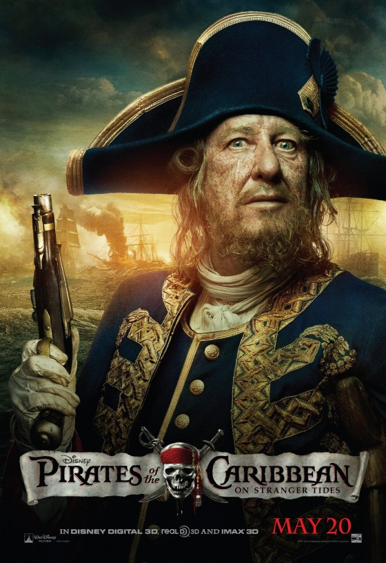 Pirates of the Caribbean - On Stranger Tides Official Movie Poster - Barbossa.jpg