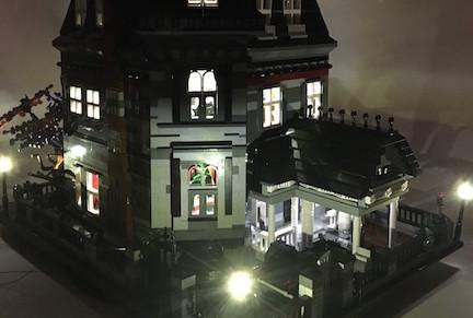 addams family mansion - lego town - eurobricks forums