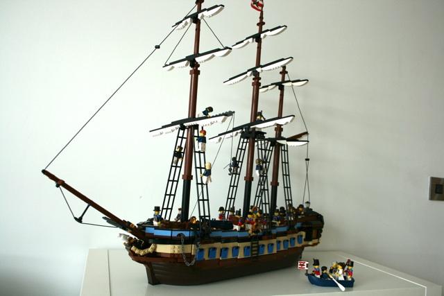 A fine sailing vessel.