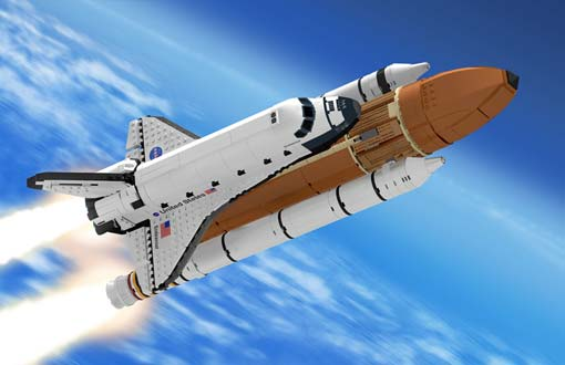 MOC: Lego Ideas - Space Shuttle (Saturn V Scale) - Special LEGO