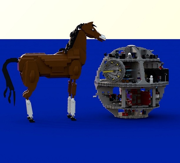 LEGO Horse Final VS Death Star.jpg