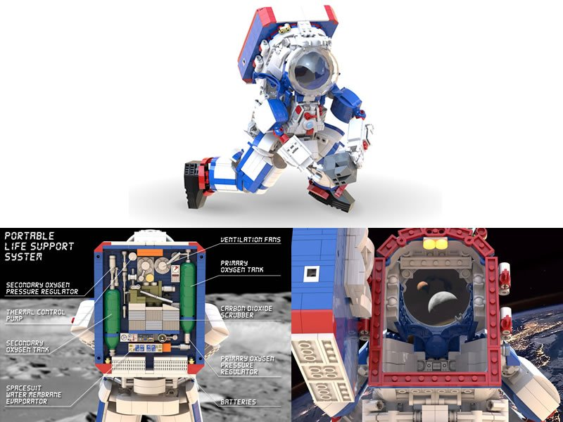 LEGO MOC of the new ARTEMIS space suit for moonwalk in 2024